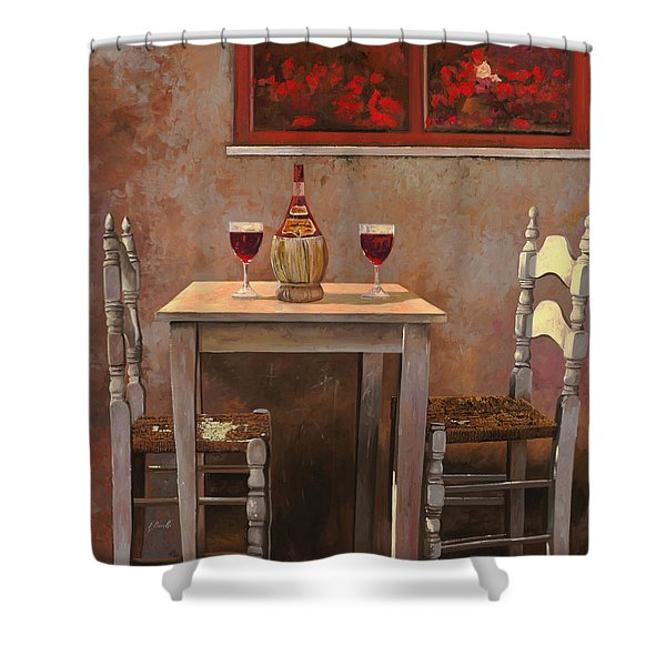 un fiasco di Chianti Shower Curtain