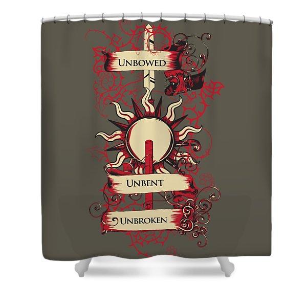 Unbowed Unbent Unbroken Shower Curtain