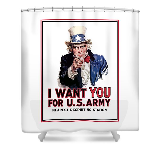 Uncle Sam -- I Want You Shower Curtain