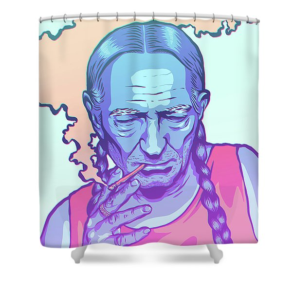 Uncloudy Day Shower Curtain