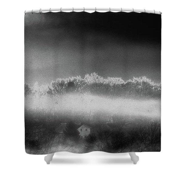 Under A Cloud Shower Curtain