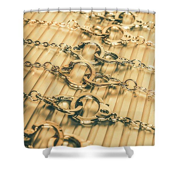 Under Arrest Shower Curtain