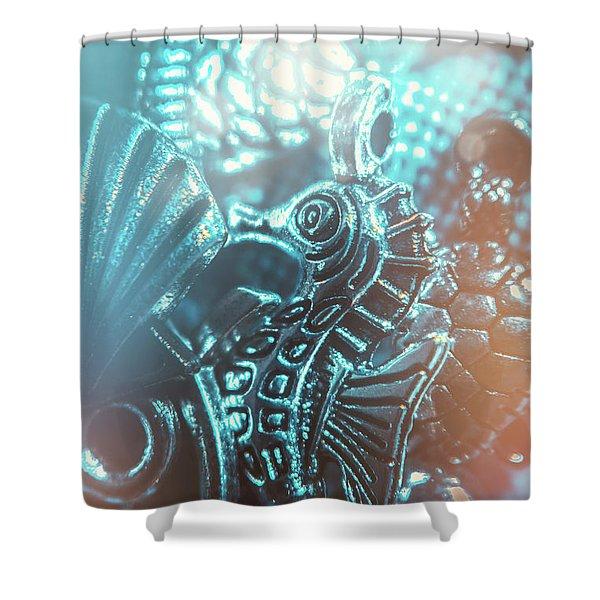 Under Blue Seas Shower Curtain