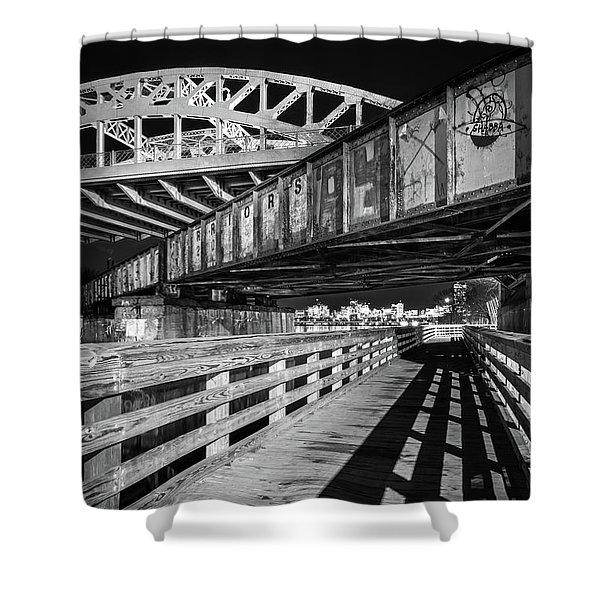 Under Boston University Bridge Shower Curtain