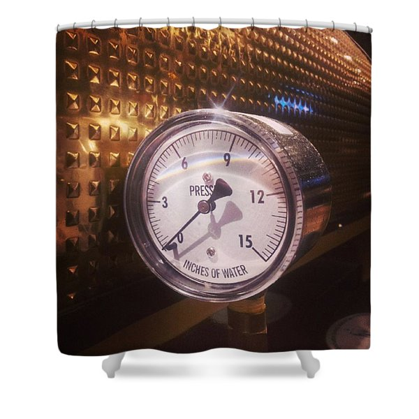 Under Pressure #coffee #cafe Shower Curtain