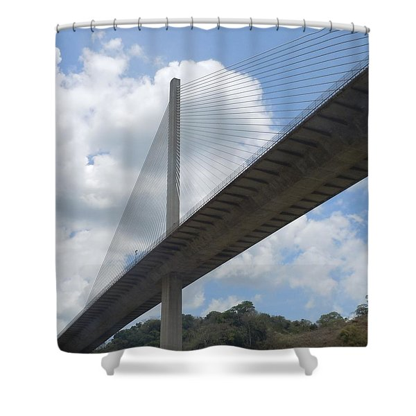 Under The Bridge Through Panama Shower Curtain