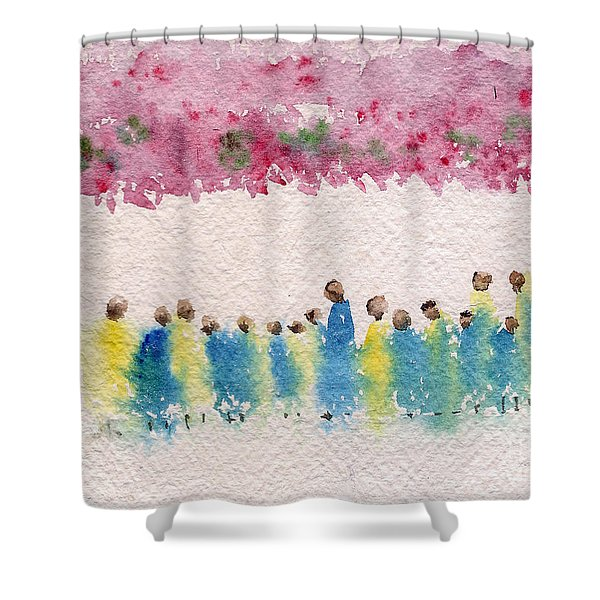 Under The Canopy Of Cherry Blossoms Shower Curtain