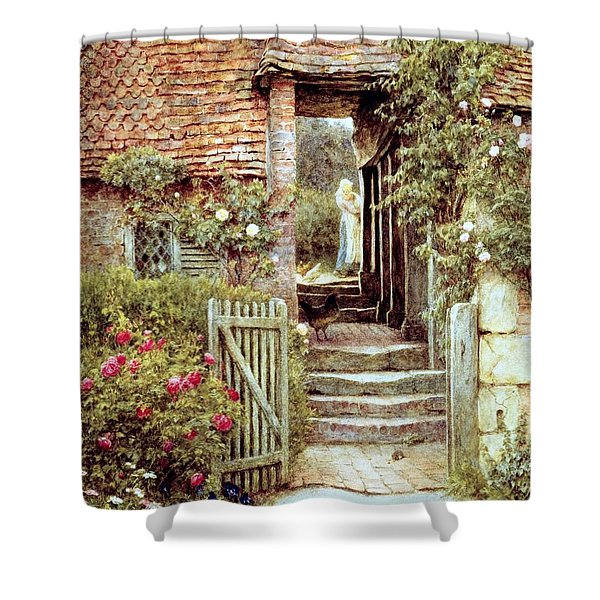 Under The Old Malthouse Hambledon Surrey Shower Curtain