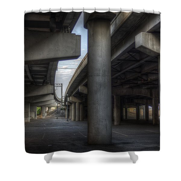 Shower Curtain featuring the photograph Under The Overpass I by Break The Silhouette