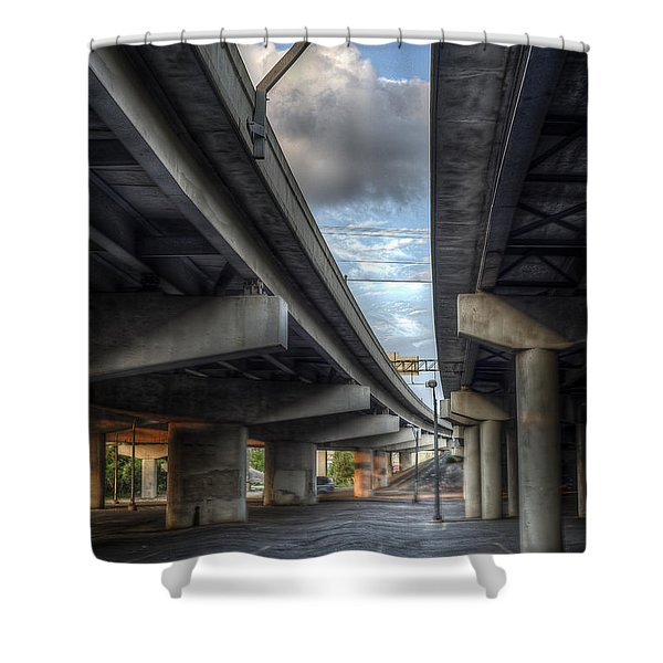 Shower Curtain featuring the photograph Under The Overpass II by Break The Silhouette