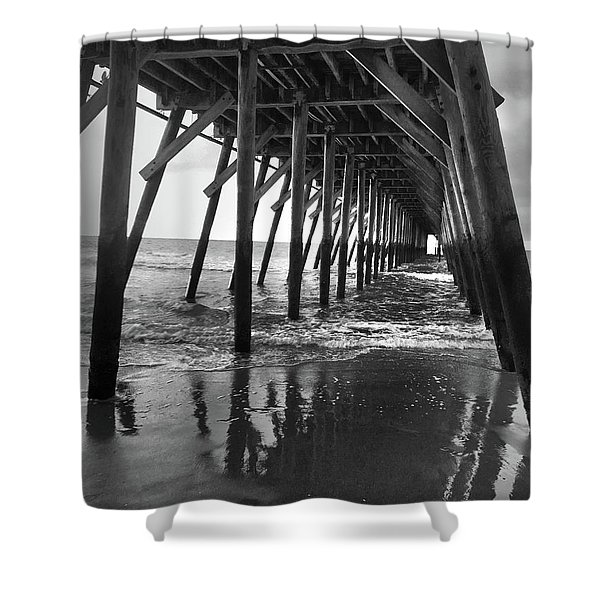 Under The Pier At Myrtle Beach Shower Curtain