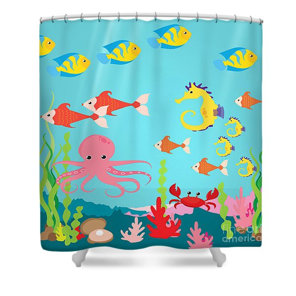 Under The Sea-jp2987 Shower Curtain