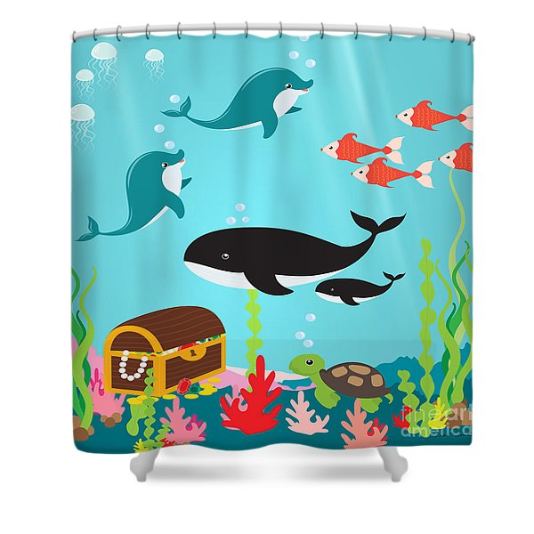Under The Sea-jp2988 Shower Curtain