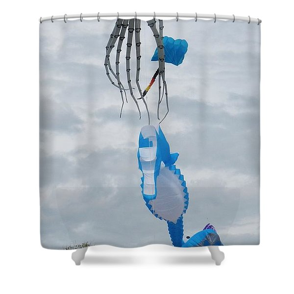 Under The Sea Kites 2 Shower Curtain