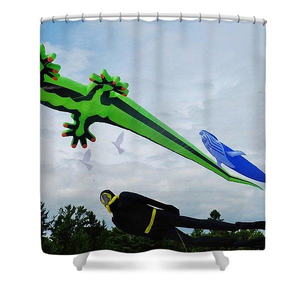 Under The Sea Kites Shower Curtain