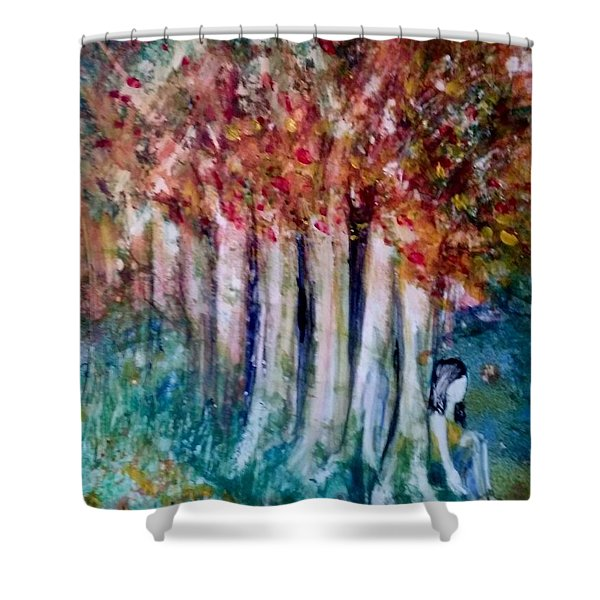 Under The Trees Shower Curtain