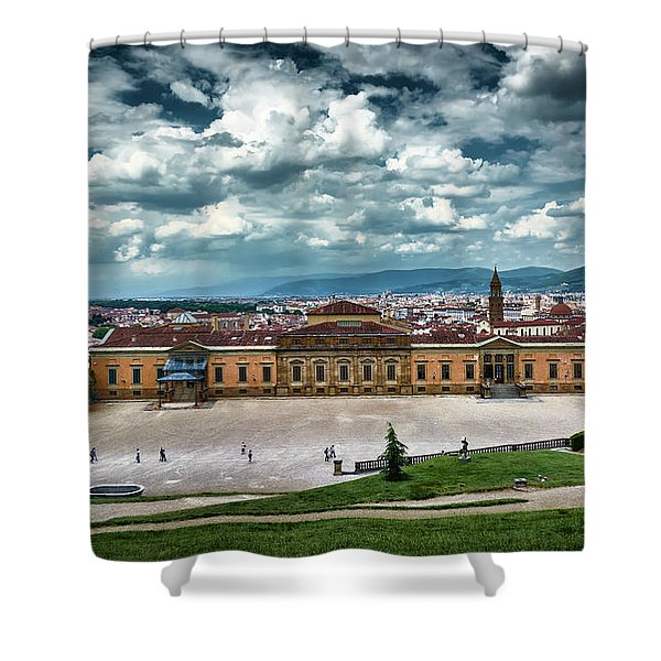 The Meridian Palace And Cityscape In Florence, Italy Shower Curtain