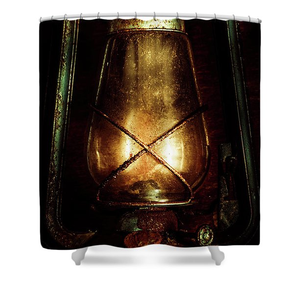 Underground Mining Lamp  Shower Curtain