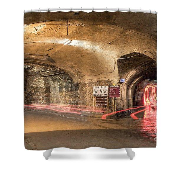 Underground Tunnels In Guanajuato, Mexico Shower Curtain