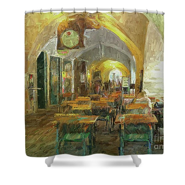 Underneath The Arches - Street Cafe, Prague Shower Curtain