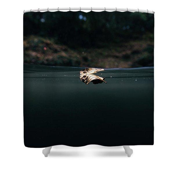Underwater Leaf Shower Curtain