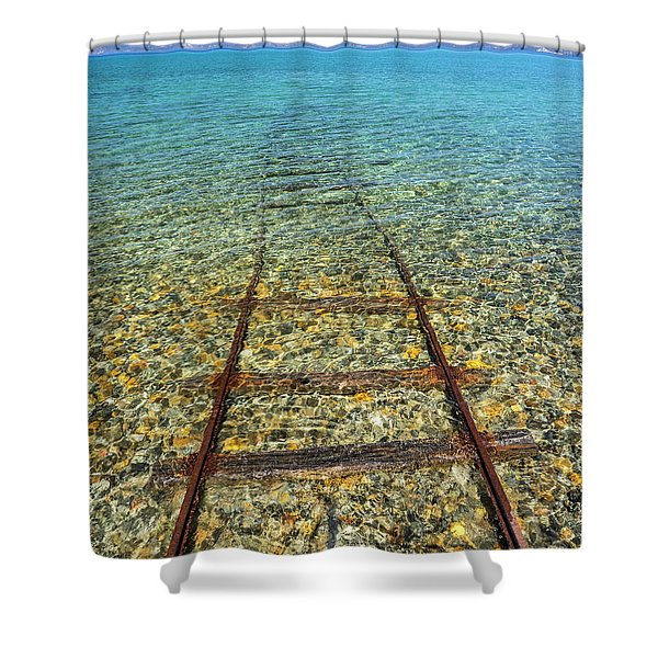 Underwater Railroad Shower Curtain