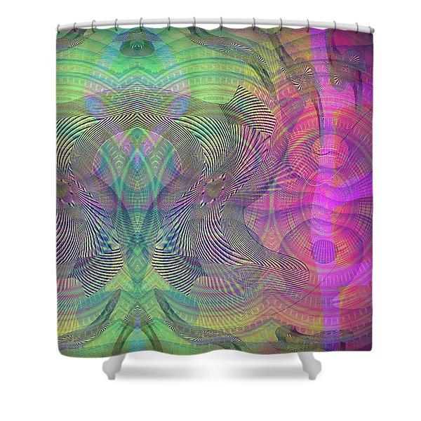 Shower Curtain featuring the digital art Underwater World I by Visual Artist Frank Bonilla