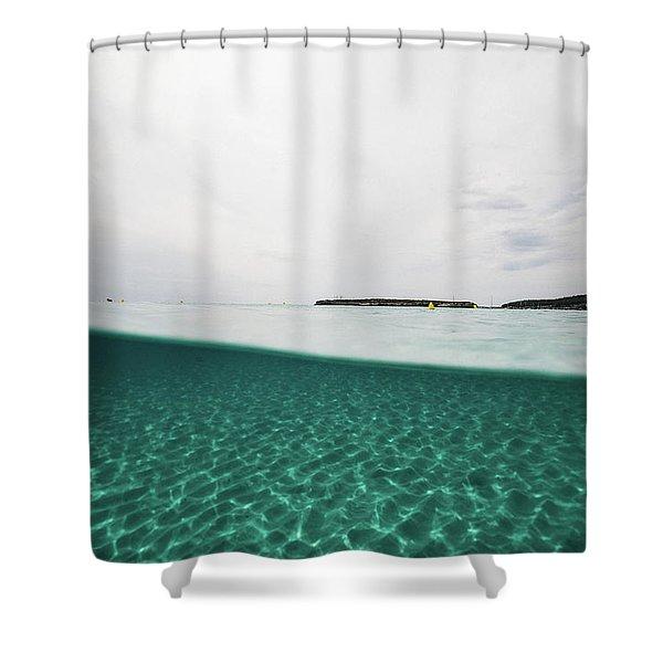 Underwaterline Shower Curtain
