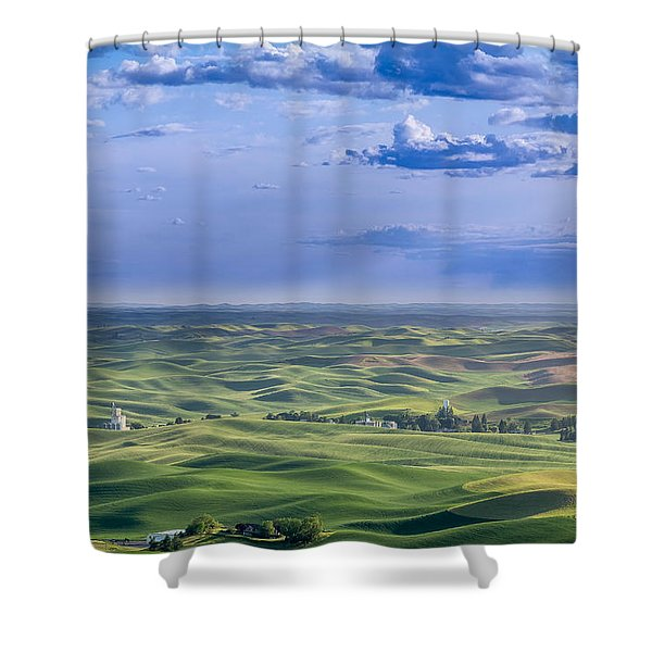 Undulating Palouse Wheatfields Shower Curtain