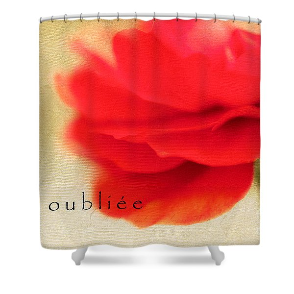 Une Oubliee Shower Curtain