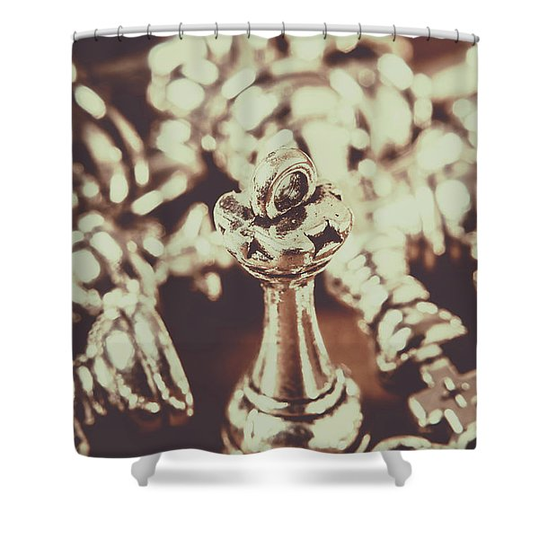 Unfallen Tower Of The Chess Game Shower Curtain
