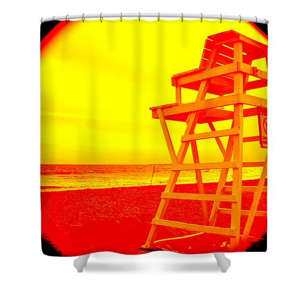 Unguarded  Shower Curtain
