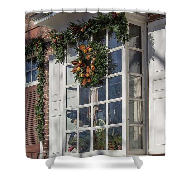 Unicorn Horn Shop Window Shower Curtain