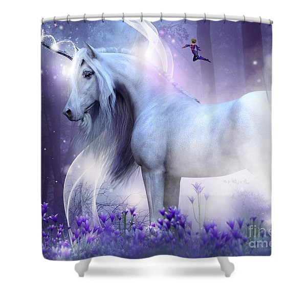 Unicorn Kisses Shower Curtain