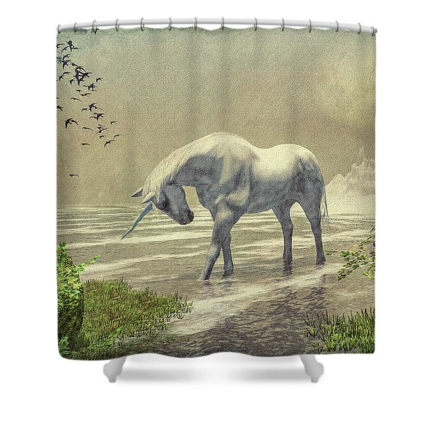 Unicorn Moon Shower Curtain