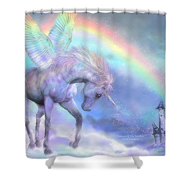 Unicorn Of The Rainbow Shower Curtain