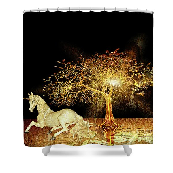 Unicorn Resting Series 1 Shower Curtain