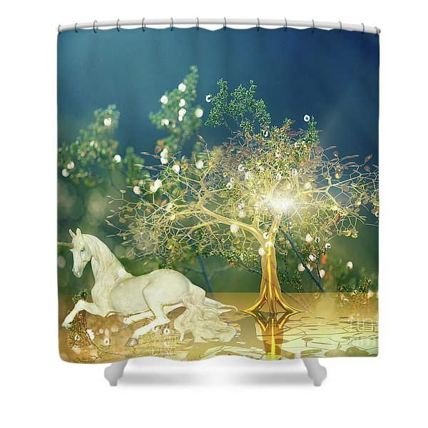 Unicorn Resting Series 2 Shower Curtain