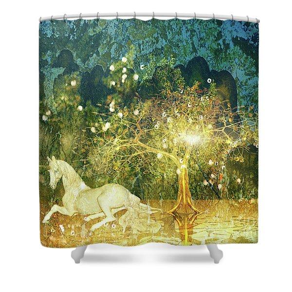 Unicorn Resting Series 3 Shower Curtain