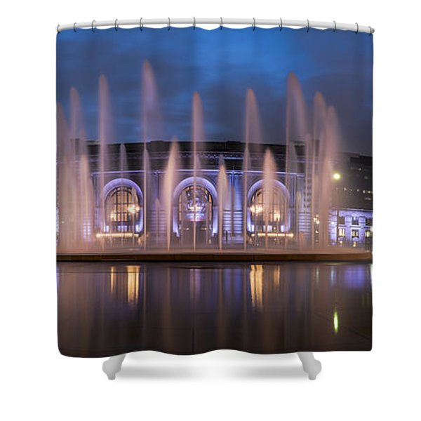 Union Fountain Shower Curtain
