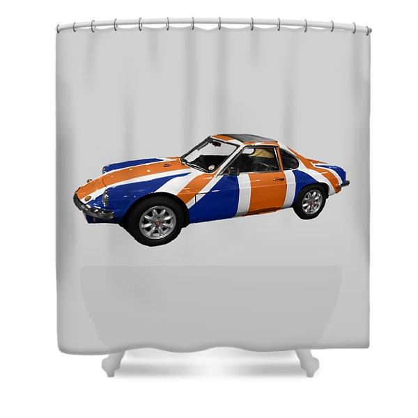 Union Jack Sports Art Shower Curtain