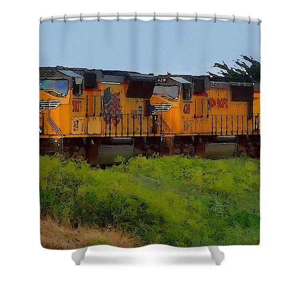 Union Pacific Line Shower Curtain