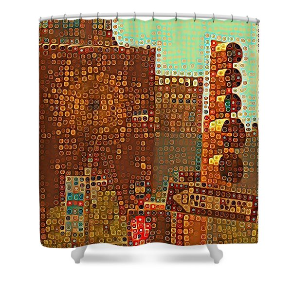 Union Square Bubbles Shower Curtain