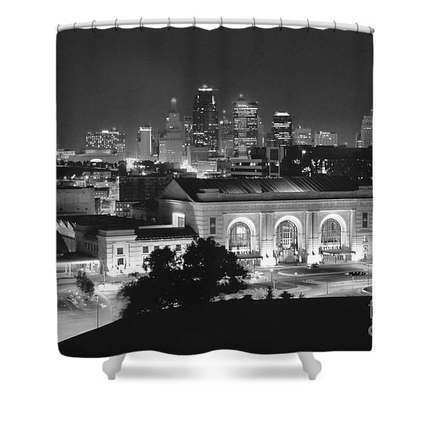 Union Station In Black And White Shower Curtain