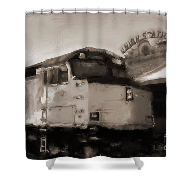 Union Station Train Shower Curtain