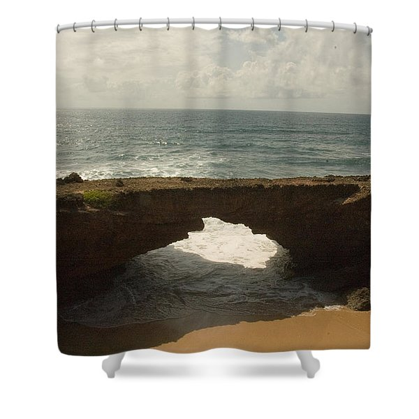 Unique Geologic Feature And Indian Shower Curtain