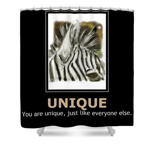 Unique Motivational Poster Shower Curtain
