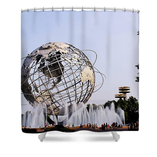 Unisphere Fountain Shower Curtain