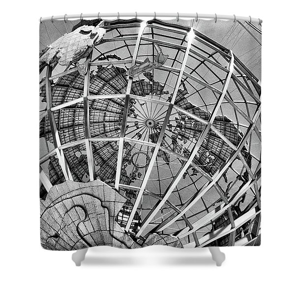 Unisphere In Black And White Shower Curtain