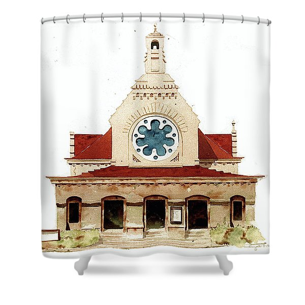 Unitarian Church - F.furness Shower Curtain